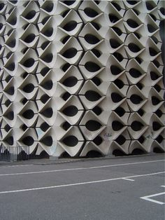 n-architektur:  concrete facade by Matahina  Chemnitz city hall, East Germany. View this on the map