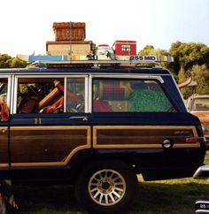 Always wanted one of these and the open American roads.    wagoneer from Hilfiger campaign