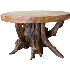 Jordans furniture: Round Teak Wood Stump Dining Table