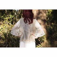 Boho Faux Lambswool Vest Cloaks, Bead Crochet, Beading Patterns, Ruffle Blouse, Vest, Boho, Lace, Model, Handmade
