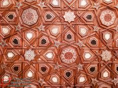 Carved and inlaid intricate #Islamic Art - ceiling detail from Aleppo – Great Mosque حلب – جامع الكبير | Syria