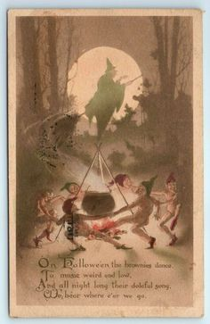 Der to save you money. Halloween Brownies, Devil Halloween, Halloween Post, Halloween Series, Vintage Witch, Vintage Halloween, Witches Dance, Flying Witch, Halloween Greetings