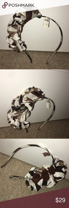 Henri Bendel brown and white headband NWT Henri Bendel brown and white headband NWT henri bendel Accessories Hair Accessories