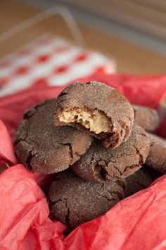 Chocolate Peanut Butter Surprise Cookies Recipe.  Very Yummy!  Careful not to over bake.