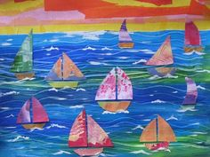 Sailboat Collage