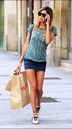 Skirt minigonna belen rodriguez