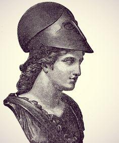 Athena, Goddess of wisdom Ancient Greek Sculpture, Ancient Greek Art, Tattoos Lindas, Athena Tattoo, Athena Goddess, Classical Art, Women In History, Gravure, Sculpture Art
