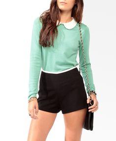Lace Collar Sweater #sweaterweather