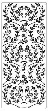 Ääriviivatarra, Kukkaköynnökset kulta ja hopea