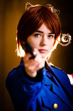 APH - The Best Shot by Randomness909.deviantart.com on @deviantART - It's rare that I see a canon-design (or any!) Feliciano cosplay that looks this intense. I like it!