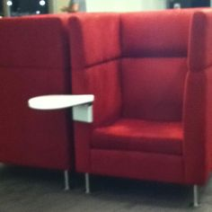 Personal booths in the delta sky club. Perfect for snuggling in to read!