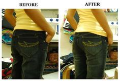 Wow make those jeans sexy again! This is so clever and easy #diy guide on how to make your jeans fit better.