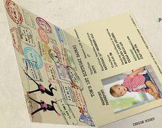 Safari pasaporte invitación-invitación del por KarlaBrownDesigns