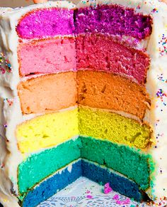 LOVE the colors. Is it cake or is it ice cream? Well, ice cream would be GREAT! LOL!