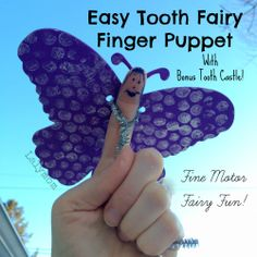 Tooth Fairy Finger Puppet and Tooth Castle Craft-Fine Motor Fridays - LalyMom