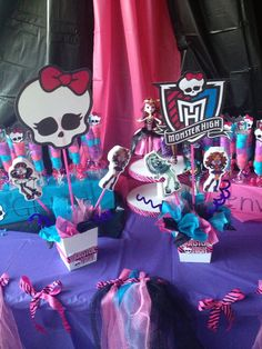 Monster High Birthday CenterPiece  by FantastikCreations on Etsy, $15.00