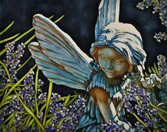 """Daily Paintworks - """"Garden Faerie"""" - Original Fine Art for Sale - © Margaret Horvat"""