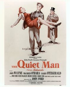 Directed by John Ford. With John Wayne, Maureen O'Hara, Barry Fitzgerald, Ward Bond. A retired American boxer returns to the village of his birth in Ireland, where he finds love. Old Movies, Vintage Movies, Real Movies, The Quiet Man Movie, American Boxer, Republic Pictures, John Wayne Movies, Star Of The Day, Maureen O'hara