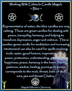 Candles:  Working with Colors in Candle Magick ~ Blue.