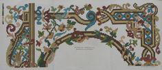 Pattern from 'Journal des desmoiselles' 1865-1869 Lith. La Vapeur de Dupuy. Looks like Berlin Woolwork.