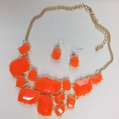 I just discovered this while shopping on Poshmark: NEW Large Orange Statement Necklace. Check it out! Price: $30 Size: OS, listed by erikame