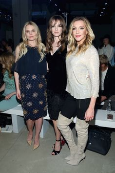 Jennifer Morrison, Danielle Panabaker and Katie Cassidy attends the Jenny Packham Fall 2016 fashion show during New York Fashion Week: The Shows at The Gallery, Skylight at Clarkson Sq on February 14, 2016 in New York City.