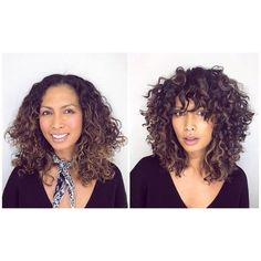 ➰ C U R L Y C U T I N S P O➰ I can just look at shape cut transformations forever. I absolutely love this one by the amazing… ➰ C U R L Y C U T I N S P O➰ I can just look at shape cut transformations forever. I absolutely love this one by the amazing… Curly Hair Styles, Curly Hair With Bangs, Haircuts For Curly Hair, Curly Hair Tips, Hairstyles With Bangs, Natural Hair Styles, Medium Curly Haircuts, Curly Hair Fringe, Curly Hair Layers