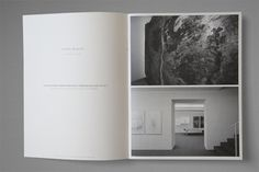 MATERIA PRIMA by Nicolas Zentner, via Behance Hugely white, font appears only minimal as slightly touch of grey on the whole page