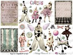 Digital collage sheet for Signs & Invites