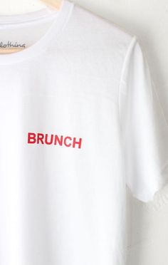 e6a7e9d75f6 Brunch Tee. Graphic TeesBrunchCrew NeckLoose FitProduct ...