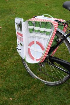 Picnic bag for bicycle - cute and great!