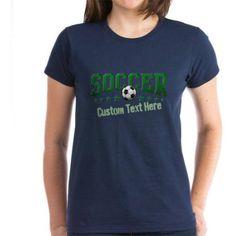 Cafepress Personalized Soccer Women's Dark T-Shirt, Size: Large, Blue
