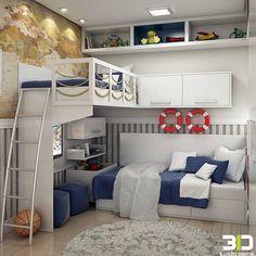 """859 Likes, 26 Comments - Valéria França ® (@garimpandodicas) on Instagram: """"Ideia para fazer ou decorar #quartodemenino! #navydecir #Décordequarto #décor #decoração…"""""""