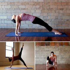 Tummy-Toning Yoga Poses: A strong core prevents back pain, improves your balance and posture, and hey — it looks pretty good in a bikini, too. Try out this yoga sequence to tone your midsection just in time for Summer. | best stuff