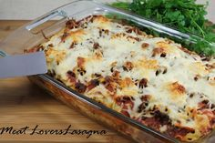 Meat Lovers Lasagna Classic Italian comfort food with layers of sausage, ground beef and pepperoni for your inner carnivore!