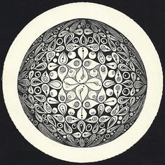 Enthusiastic Artist: Sphere look zendalas ~ Margaret has a PDF available, showing you how to get this 2D effect.