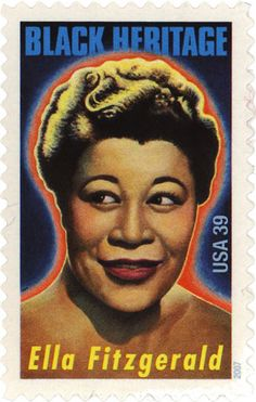 Black Heritage: Ella Fitzgerald  USA, 2007, illustration by Paul Davis