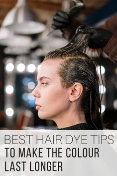 Best hair dye for gray hair coverage tips from The Wardrobe Stylist. Hair dye ideas to make the colour last longer. Tips to keep the hair colour lasting longer on your hair. #HairDye #HairColour #hair