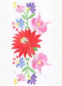 Flower Embroidery Designs, Custom Embroidery, Embroidery Thread, Cross Stitch Embroidery, Machine Embroidery Designs, Folk Art Flowers, Flower Art, Animal Knitting Patterns, Paper Quilling