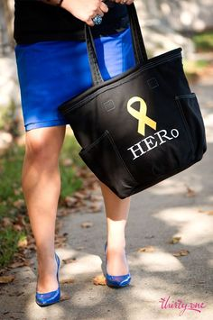 Support Our Troops in style with a golden yellow ribbon on a Thirty-One Black Retro Metro.  For every ribbon purchased 31 cents will be donated to Thirty-One Gives to support our mission to empower women and girls and strengthen families. #hero #military #supportourtroops  www.mythirtyone.com/heatherpotter