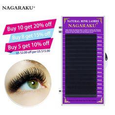 02d3d476f96 faux mink eyelash extensions individual eyelashes false fake B C D Curl  NAGARAKU