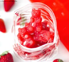 Healthy Homemade Gummy Bears — Strawberry Flavored