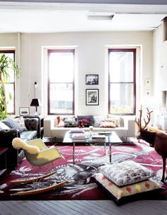 An+Eclectic+Brooklyn+Loft+With+the+Perfect+High/Low+Mix+via+@MyDomaine