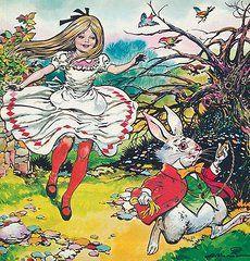 Alice In Wonderland Paintings - Alice in Wonderland  by Jesus Blasco