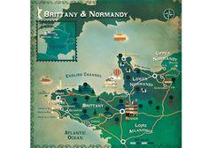Brittany Map copyright Cartographik (Alexandre Verhille)