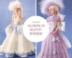 vestiti barbie uncinetto schemi da stampare Crochet Barbie Clothes, Doll Clothes, Barbie Dress, Crochet Doilies, Fashion Dolls, Tutu, Pixie, Diy And Crafts, Crochet Patterns