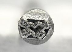 EXCLUSIVE Heart and Crossbone Steel Stamp Metal by TheSupplyGuy, $13.99