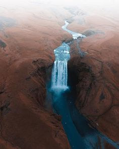 Skógafoss Waterfall from above