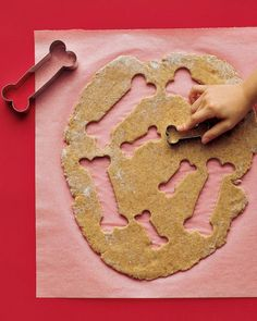 Skip the store-bought dog treats and go homemade with these healthy, yummy dog treat recipes. With just a few key ingredients, you can make homemade dog treats right in your kitchen. From dog biscuits to Martha's special dog food, your dog will love these tasty treat recipes. Your dog won't be able to resist chowing down on these edible bones. Personalize them with decorations and by writing his or her name on the dough before baking.