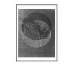 The Minimalist - Two moons print by RK Design